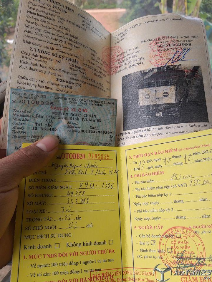 Rao bán xe Kia K2700II 1,25 tấn đời 2003 , đăng kí năm 2004 thùng mui bạt