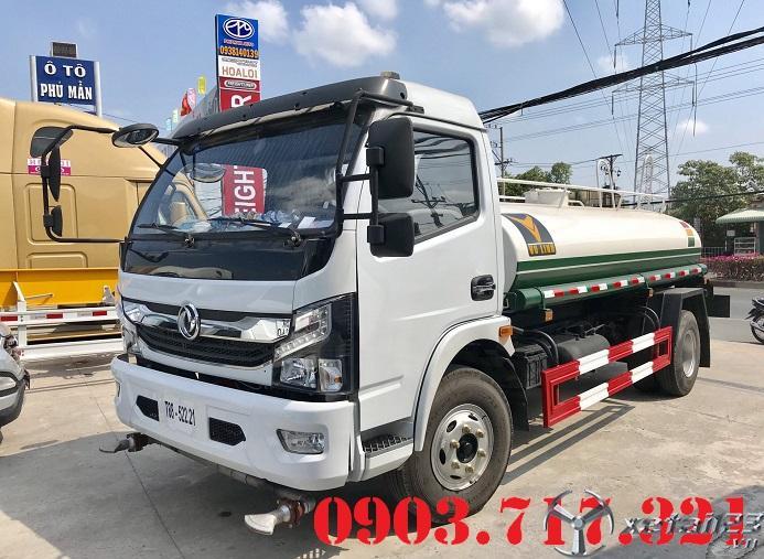 Xe bồn phun nước 5 khối hiệu DongFeng nhập khẩu 2021 giá tốt