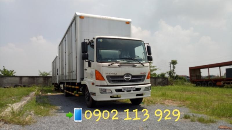Bán Xe tải hino 5, 4 tấn tải trọng FC9JLTC  thùng cao chở cấu kiện điện tử