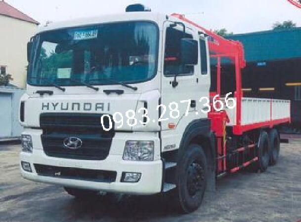 Bán xe tải Hyundai HD260 ,xe có gắn cẩu Kanglim 7 tấn .Hỗ trợ cho vay trả góp lên tới 85%