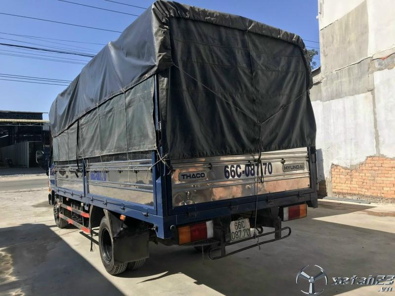 Xe Hyundai HD650 6,4 tấn đời 2017 , đăng kí 2018 thùng mui bạt đã qua sử dụng cần bán giá rẻ nhất