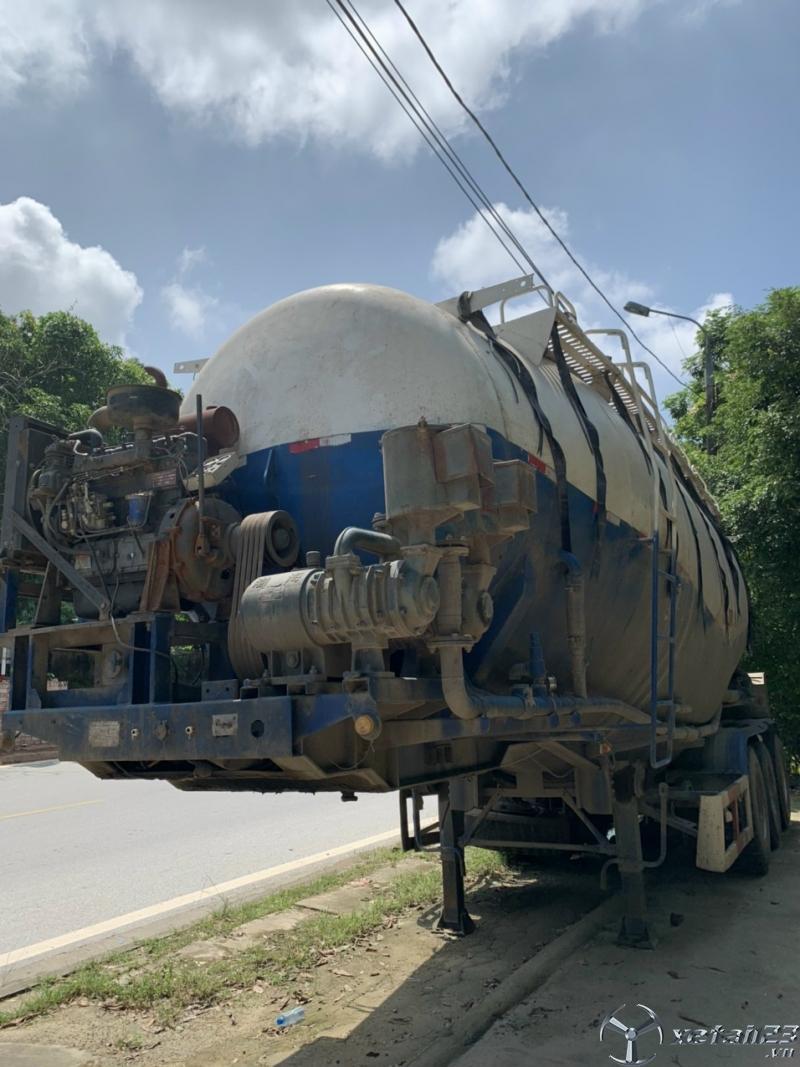 Thanh Lý Sơ mi - rơ moóc xi téc chở xi măng rời CIMC 45m3 đời 2014 giá chỉ 340 triệu