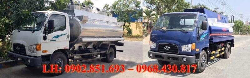 Cần bán chiếc Xe Bồn Chở Xăng 8 khối, 9 Khối Hyundai 110S giá lh 0902851693
