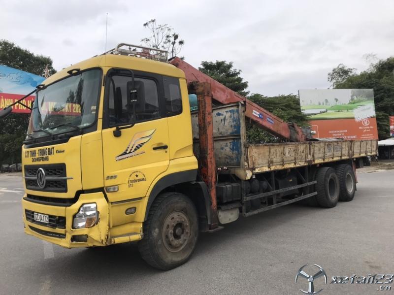 Bán xe Dongfeng Hoàng Huy 3 chân đời 2014 gắn cẩu tự hành Kanglim 7 tấn giá 910 triệu