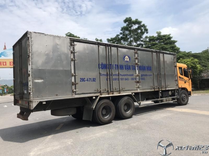 Cần bán gấp xe Trường Giang 3 chân sản xuất 2015 thùng kín