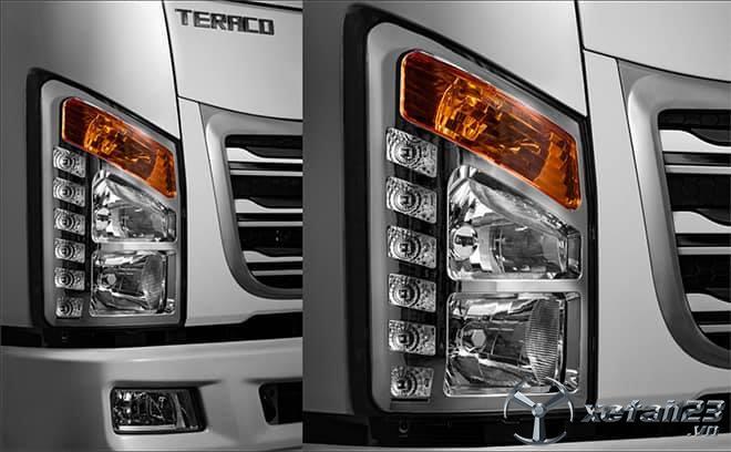Bán xe tải Teraco 190 thùng mui bạt, phù hợp vận hành trong thành phố, cơ động, tiết kiệm nhiên liệu