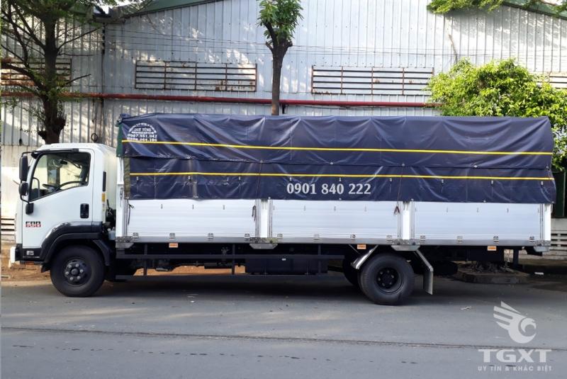 Xe tải Isuzu FRR650 thùng bạt bửng nhôm, sx năm 2020