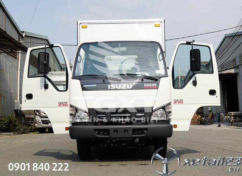 Xe tải Isuzu QKR270 thùng kín, tải 1T4, 1T9, 2T1, 2T4, 2T9