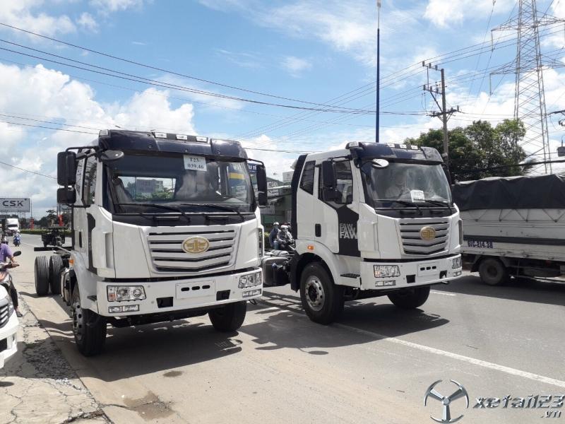 giá xe tải faw 7.3 tấn thùng dài 9m6 giá cạnh tranh.