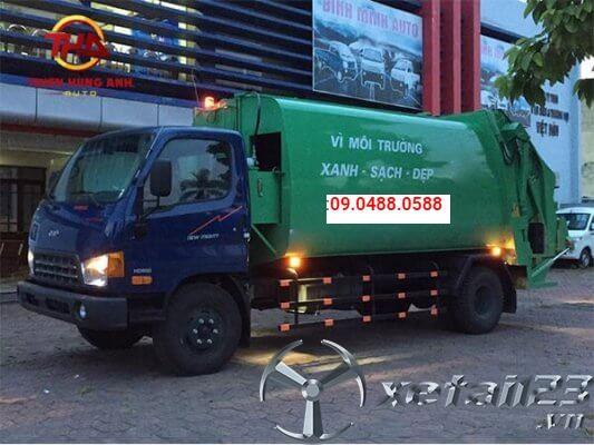 Xe ép chở rác 9 khối Hyundai HD800 mới giá tốt nhất thị trường
