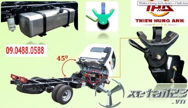 Xe ép chở rác 9 khối Thaco Ollin 700c mới 100% giá tốt nhất