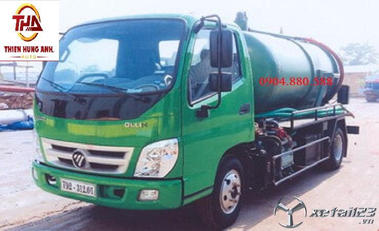 Xe hút chất thải 4 khối Thaco ollin 500B mới giá tốt nhất thị trường