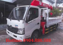 Xe tải cẩu unic 3 tấn 3 đốt lắp trên hino XZU730 Nhật Bản