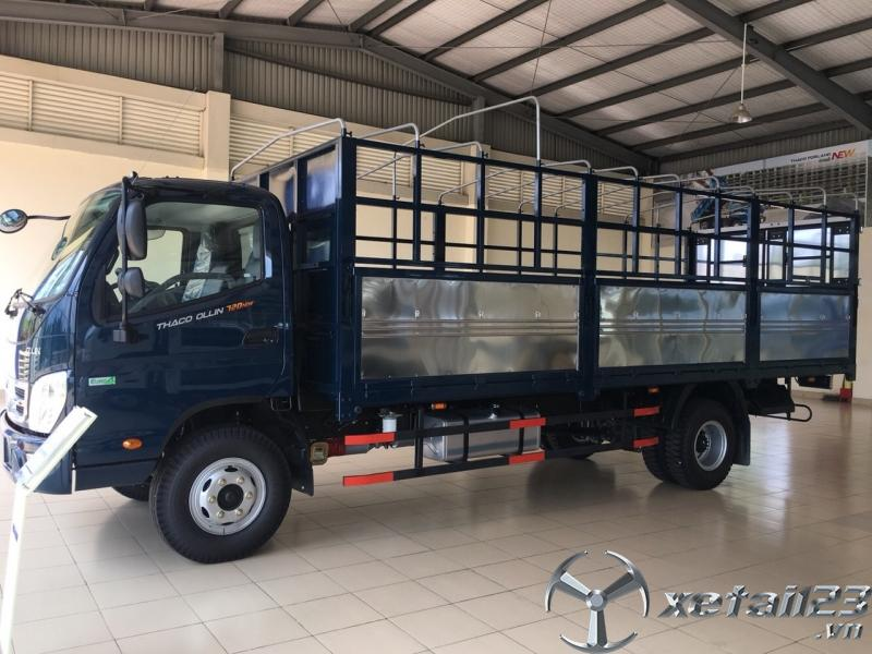 Bán xe tải 7 tấn thùng mui bạt Thaco Ollin720.E4 máy điện giá tốt