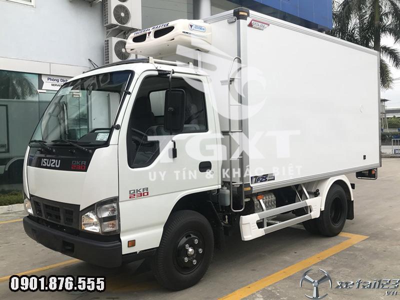 Xe đông lạnh Isuzu QKR230/ xe tải 1T5 thùng dài 3m6/ ngân hàng vay cao