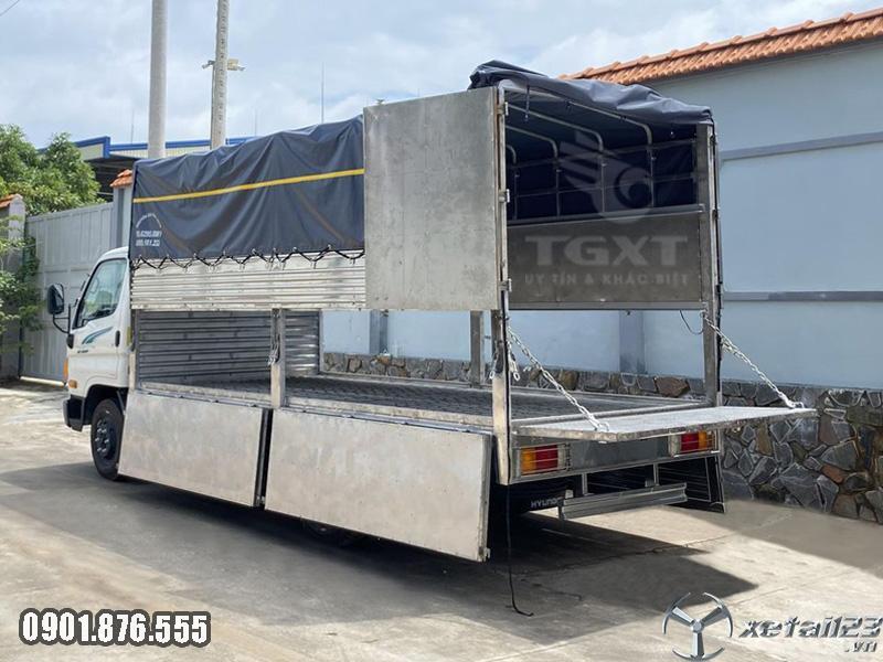 Xe Hyundai 75S thùng dài 4m5, trả trước 10-20% giao xe tận nơi