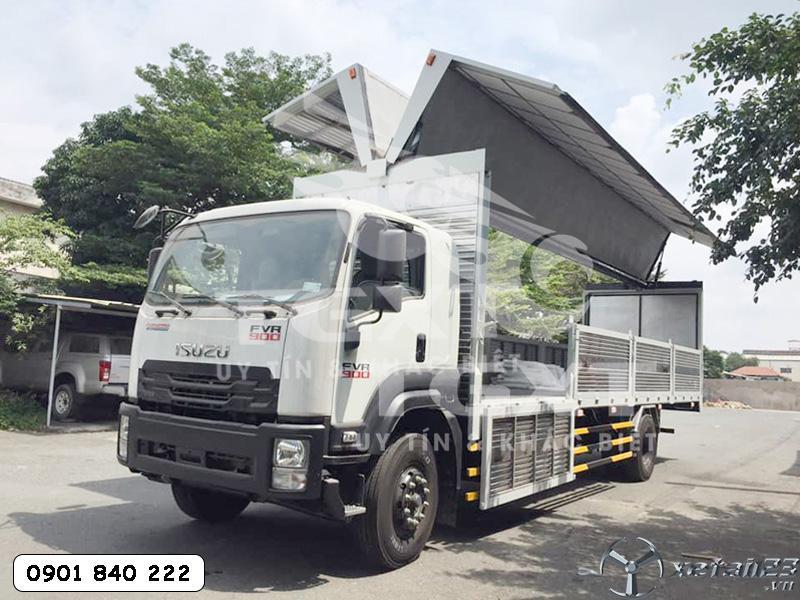 Xe Isuzu FVR900 thùng kín cánh dơi ngân hàng hỗ trợ vay cao