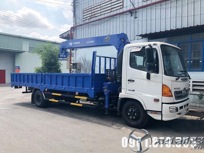 Xe tải Hino FC gắn cẩu TADANO có sẵn hỗ trợ vay cao