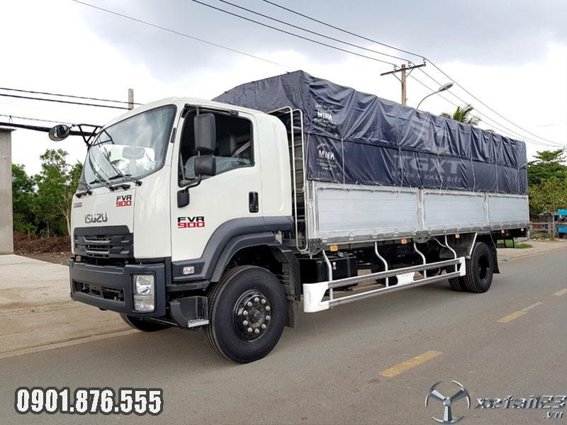 Xe tải Isuzu FVM1500 mới nhất thùng dài 9m3, vay ngân hàng 80%