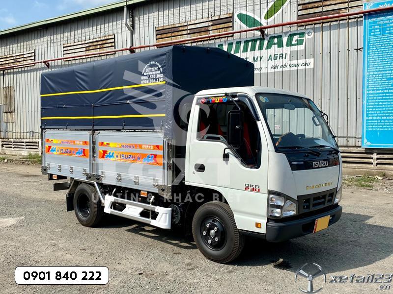 Xe tải Isuzu QKR230 thùng bạt dài 3m6 trả trước 10-20% nhận xe ngay