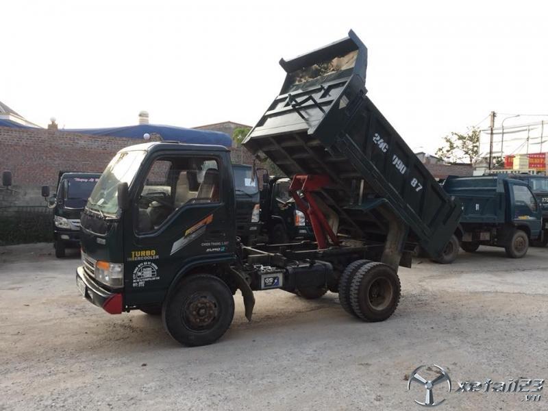 Xe tải ben tự đổ Chiến Thắng 4 tấn 1 cầu sản xuất 2017