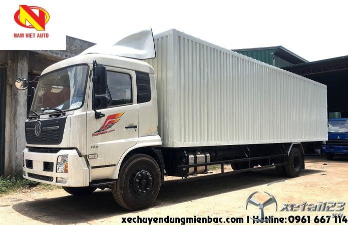 Bán xe tải 7,5 tấn thùng kín container Dongfeng B180 mở một cửa sườn bên phụ giá tốt nhất