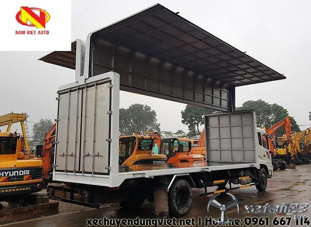 Bán xe tải thùng kín cánh rơi Dongfeng Hoàng Huy B180 dài 7,8m.Hỗ trợ cho vay trả góp lên tới 75%