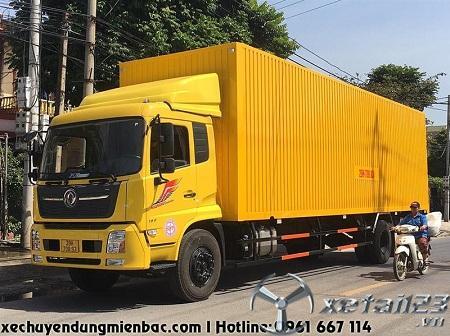 Xe chở Pallet 7,1 tấn DONGFENG B180 thùng kín Container dài 9,7M