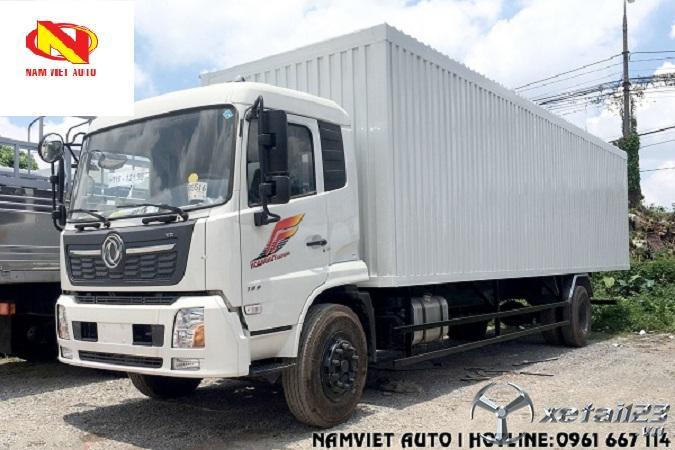 Xe tải 7,5 tấn thùng kín container Dongfeng B180 không mở cửa sườn mới 100 %