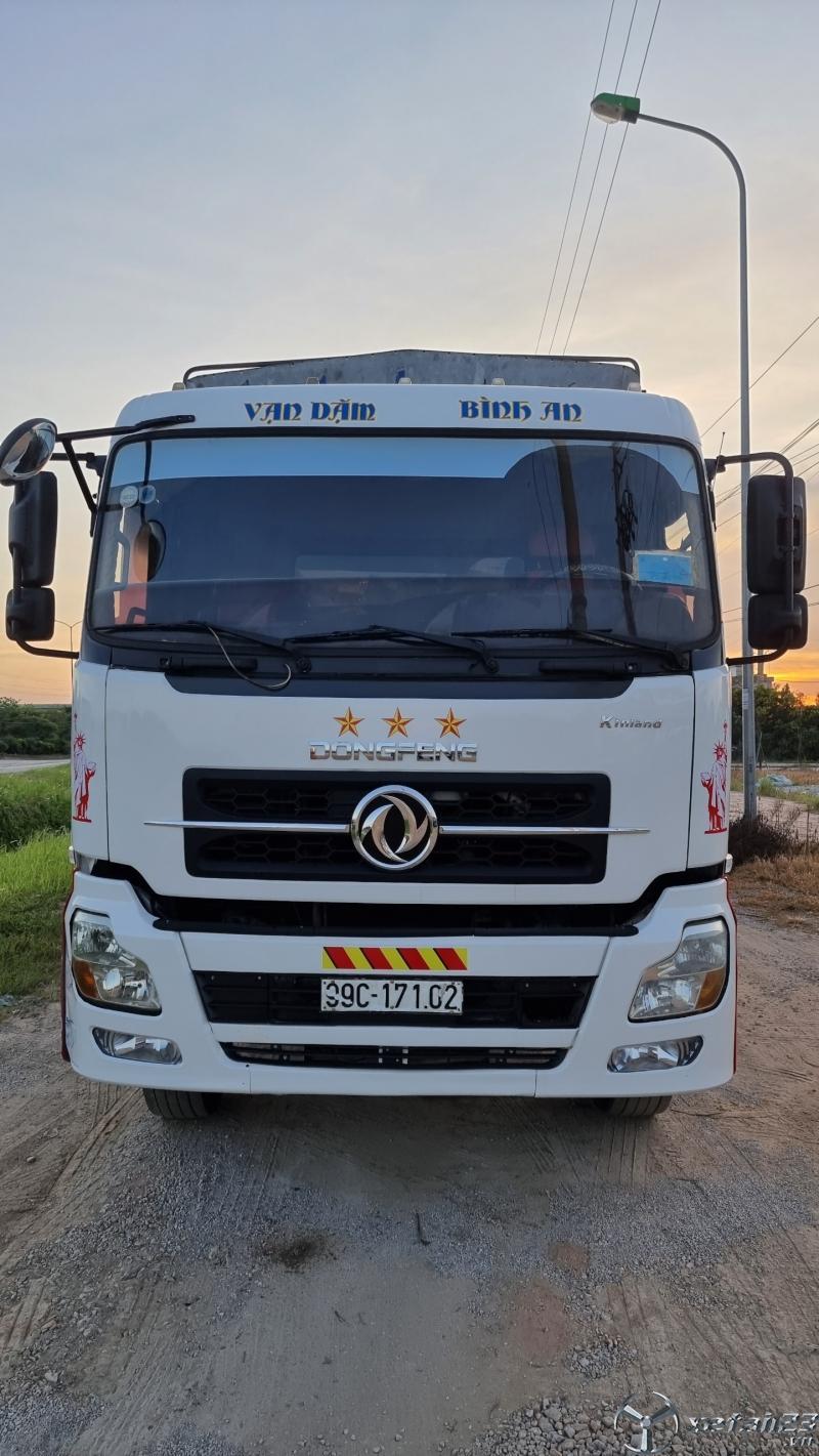 Bán xe Dongfeng nhập khẩu 4 chân sx 2014 , đăng kí 2015 thùng mui bạt dài 10m
