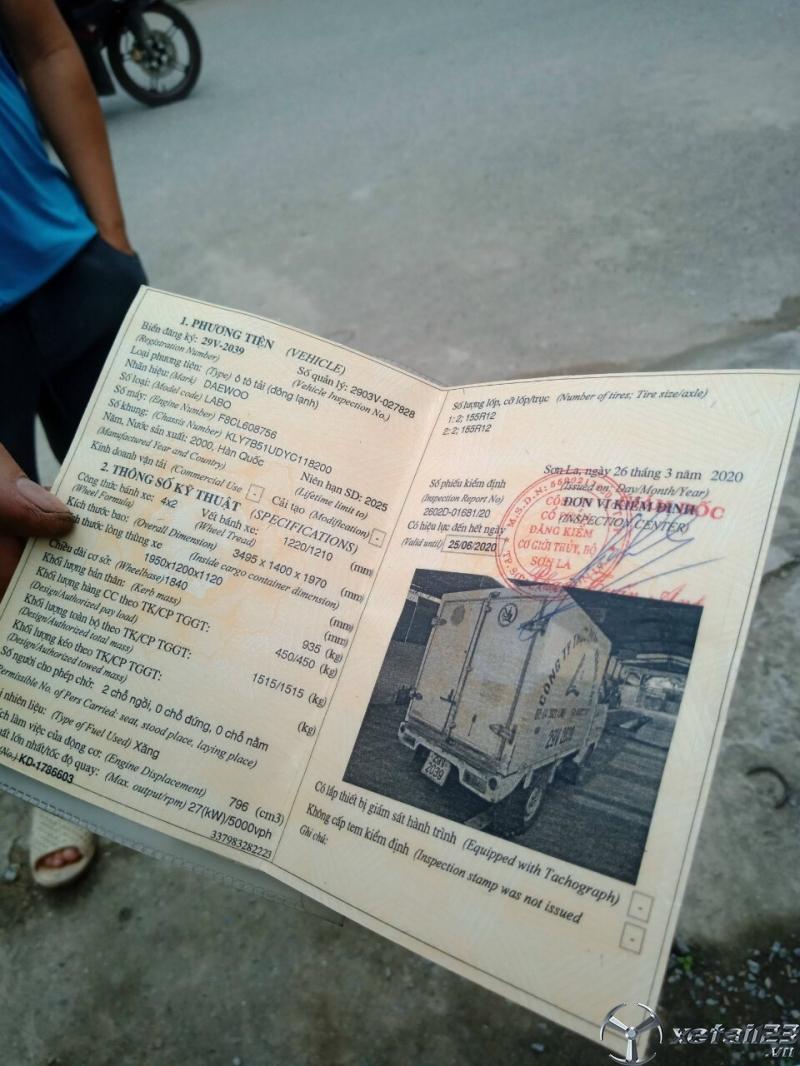Thanh lý gấp xe Daewoo Labo đời 2000 thùng đông lạnh với chỉ 35 triệu