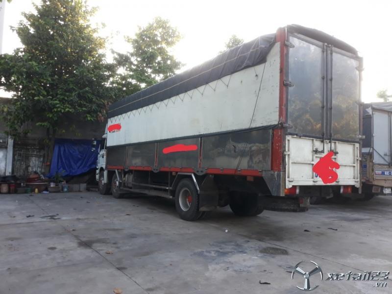 Bán xe Thaco Auman đời 2012 thùng mui bạt , có thiết bị nâng hạ hàng. Xe đẹp sẵn giao ngay