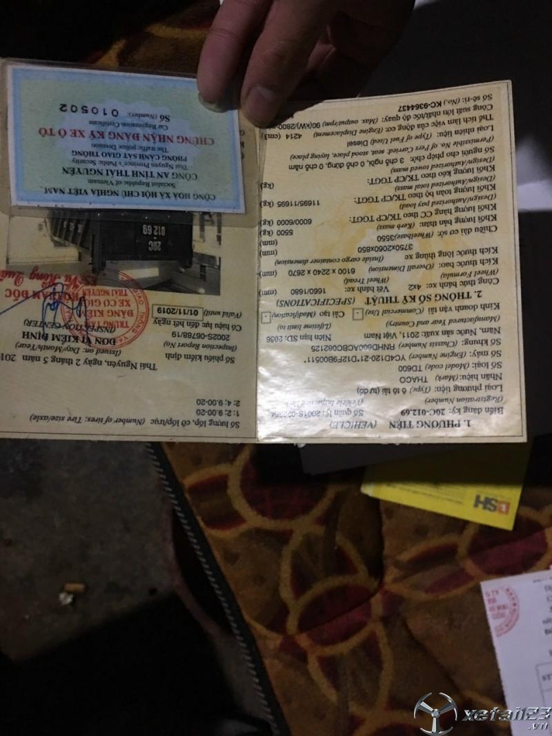Bán xe ben Thaco Forland 6 tấn đời 2011  giá rẻ , sẵn xe giao ngay