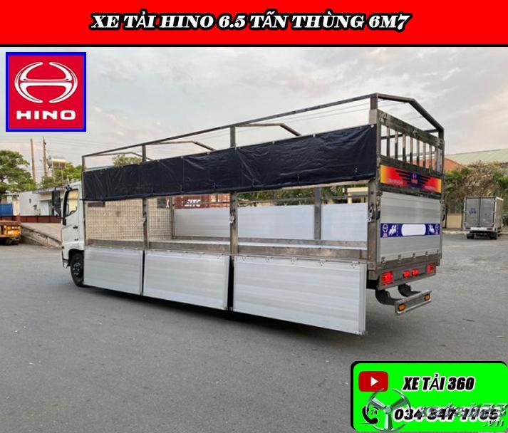 Hino 6.4t thùng bạt hỗ trợ vay 80 - 85%