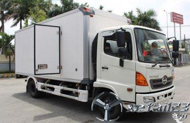 Xe tải Hino FC thùng bảo ôn,  vay ngân hàng 80%