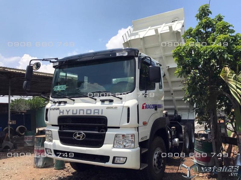 Bán xe ben 3 chân Hyundai HD270 đời 2014 nhập khẩu tải trọng 15 tấn giá rẻ nhất