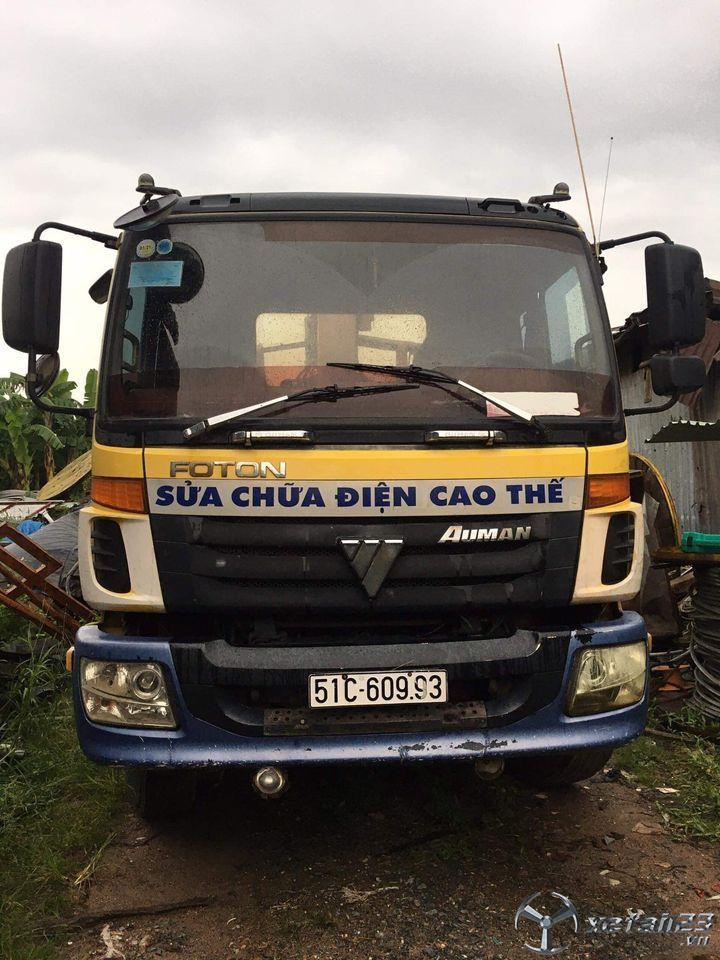 Xe tải cẩu 9 tấn Thaco Foton đời 2010 lên đời cần bán giá 490 triệu, sẵn xe giao ngay