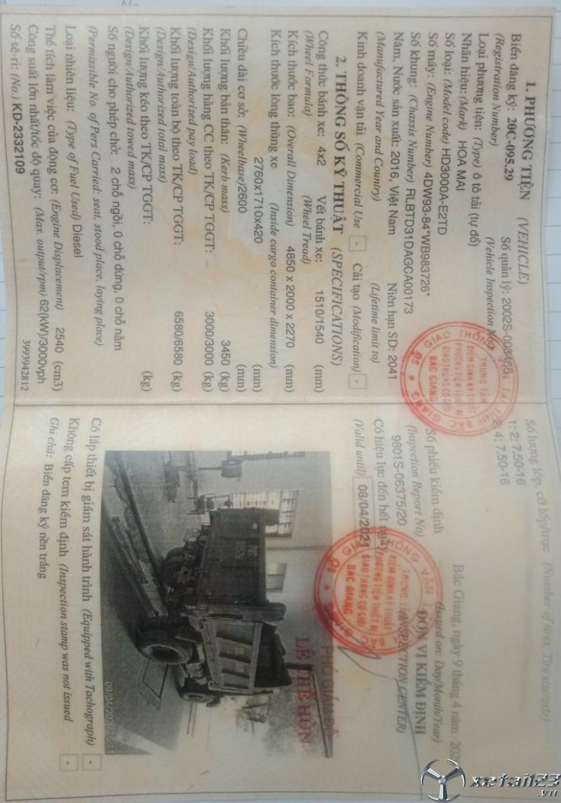 Bán Thaco Forland 4,9 tấn 1 cầu đời 2016 giá rẻ nhất
