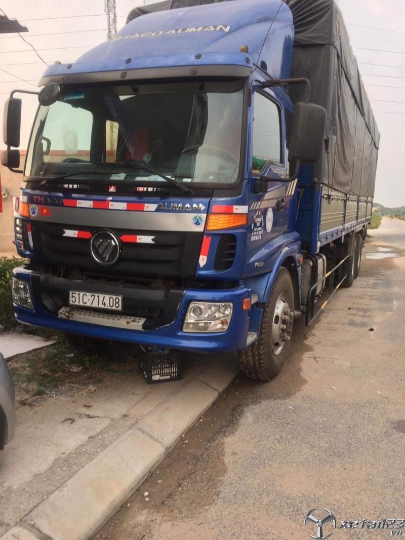 Cần bán xe Thaco Auman cầu lết tải 14,3 tấn sx 2015 thùng mui bạt với giá 545 triệu có thương lượng