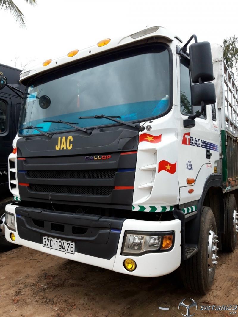 Bán xe JAC 5 chân tải 17,9 tấn sản xuất 2015 thùng mui bạt